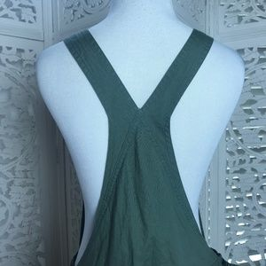 07249520e256 Announcements Jeans - Maternity Green Overall Romper Shorts Small
